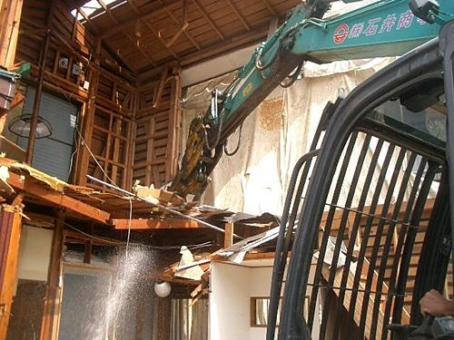 解体工事 重機解体作業 1階床解体
