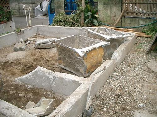 解体工事上屋完了時の基礎コンクリート状況