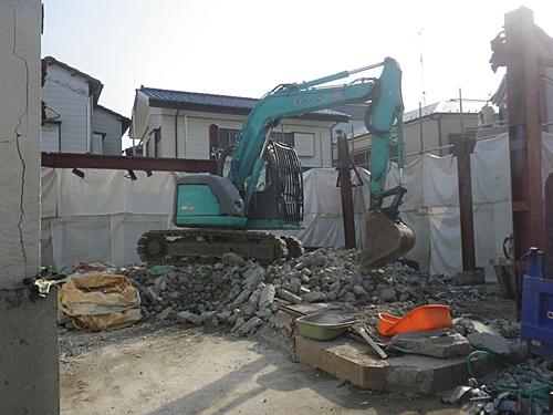 解体工事 2階撤去完了状況