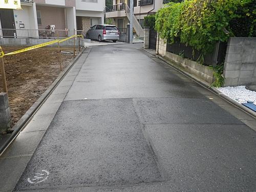 解体工事 完了時 道路清掃