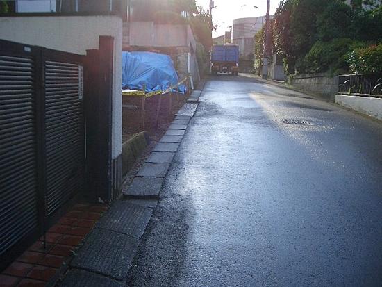 解体完了時の道路清掃