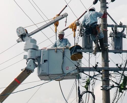 電線の撤去
