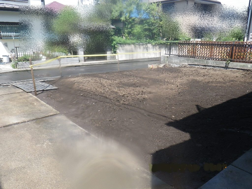 泉区のアパート解体完了時の状況