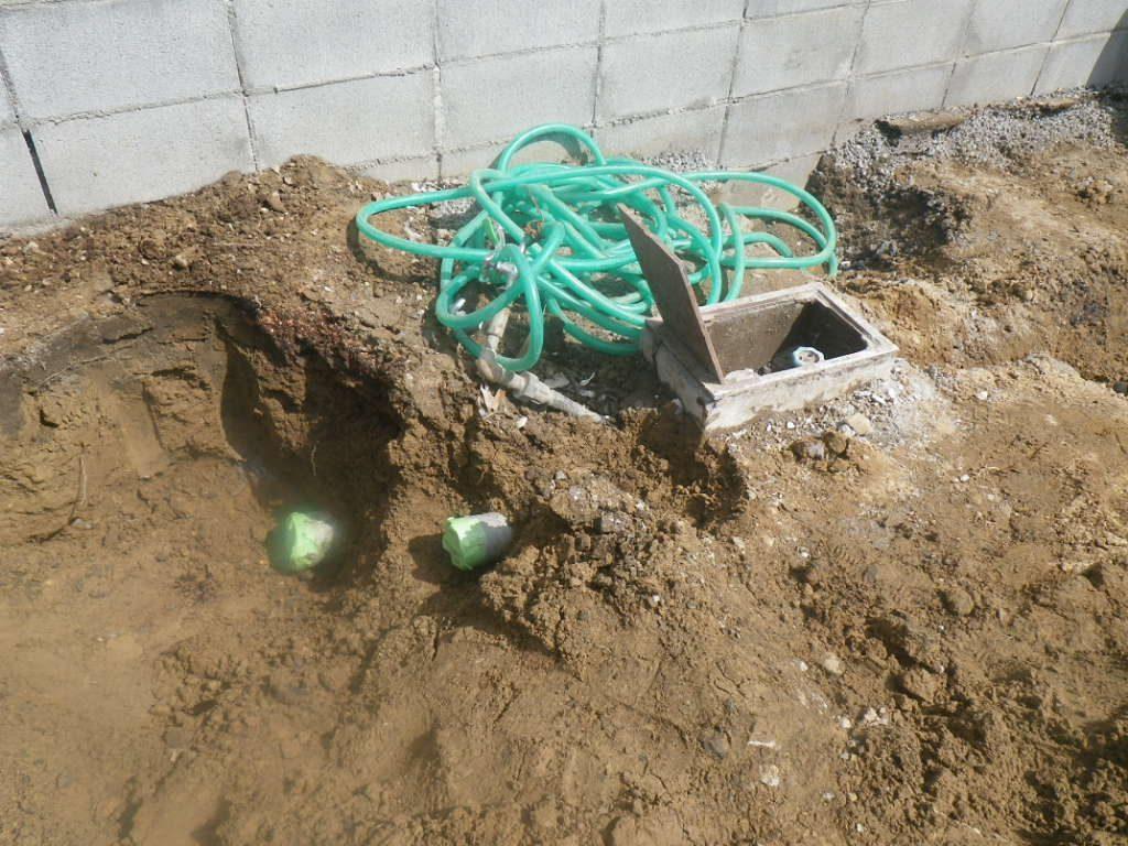 排水パイプ切断状況